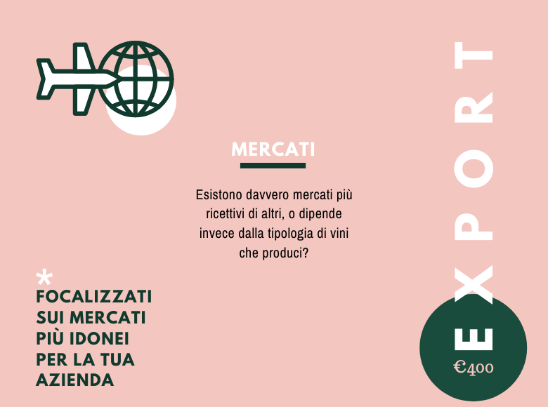 Consulenza export vini mercati esteri